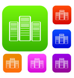 Database servers set collection vector