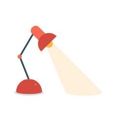 desk lamp modern cartoon colorful table bulb vector image