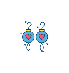 earing icon design vector image
