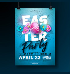 easter party flyer with vector image