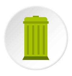 Eco dustbin icon circle vector