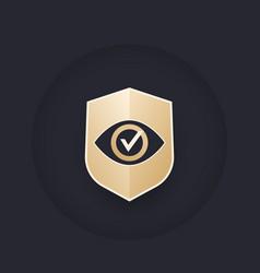 eye and shield logo design vector image
