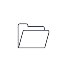 file folder thin line icon linear symbol vector image