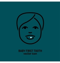 First tooth icon vector image