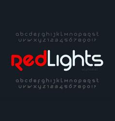 futuristic alphabet design typeface letters and vector image
