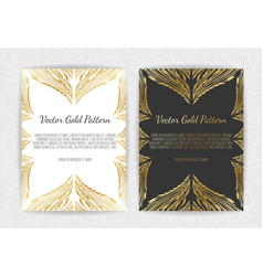 gold greeting card on a black background luxury vector image