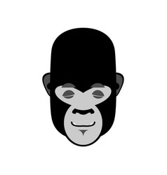 gorilla sleeping emoji monkey asleep emotion vector image