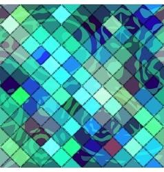 Green diagonal patchwork vector
