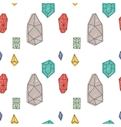 Hand drawn abstract diamond seamless pattern vector image