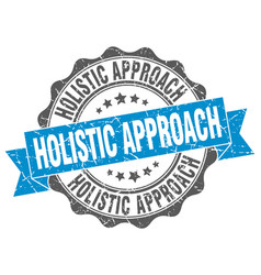 Holistic approach stamp sign seal vector