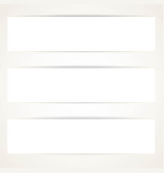 horizontal blank banner set on a white background vector image