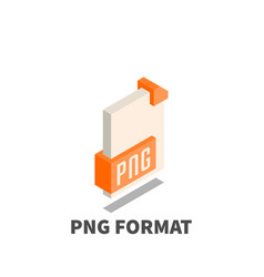 Image file format png icon symbol vector