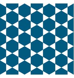 indigo blue white star pattern seamless vector image