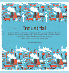Industrial equipment background vector
