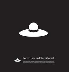 Isolated panama icon broad brim element vector