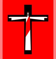 Jesus crucified cross gods son biblical religious vector