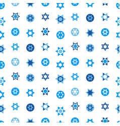 Jewish stars set seamless pattern star of david vector