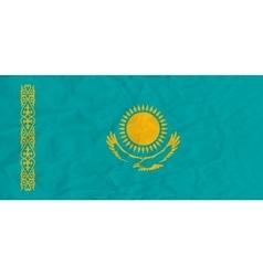 Kazakhstan paper flag vector image