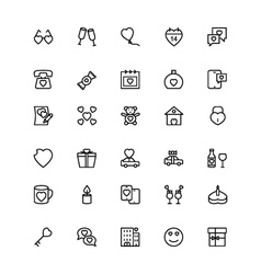 Love and Romance Line Icons 3 vector