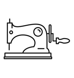Manual sew machine icon outline style vector