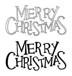 Merry christmas text lettering vector