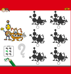 Monsters educational shadow game vector
