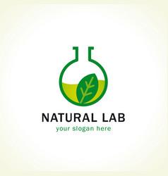 nature lab logo vector image