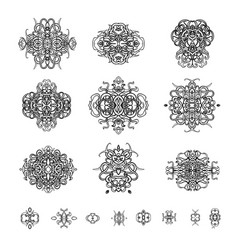 ornamental patterns in oriental style vector image