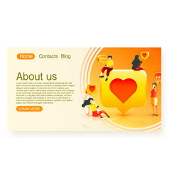 people communicate mobile phone chat with each vector image