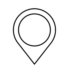 pin pointer location flat icon vector image