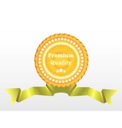Premium Quality label eps10 vector image