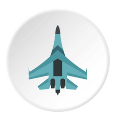 quick military aircraft icon circle vector image