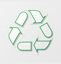 recycling arrows symbol vector image