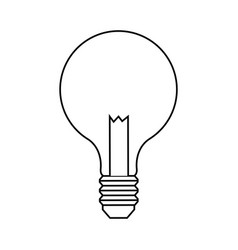 Regular lightbulb icon image vector