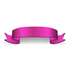 Ribbon banner satin blank vector