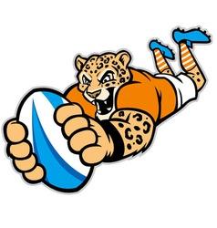 Rugleopard mascot vector