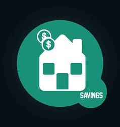 savings icon vector image