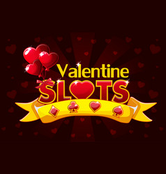 Screen logo slots banner casino slots banner of vector