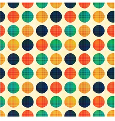 seamless abstract polka dots pattern vector image