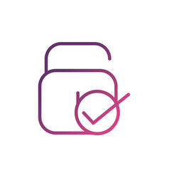 security network social media icon line vector image