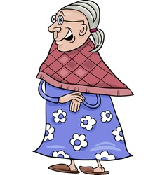Senior grandmother cartoon vector
