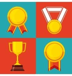 Set awards championship icons vector