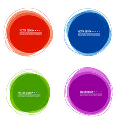 Set of colorful circular banners vector