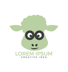 sheep logo design vector image