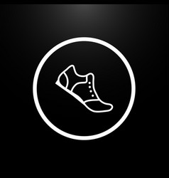 shoes logo on a black background stylish vector image