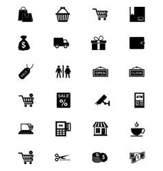 Shopping Solid Icons 1 vector image