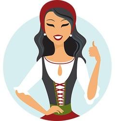 South european girl vector image