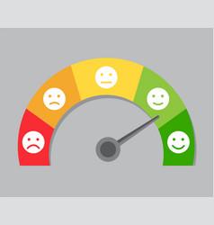 speedometer measures mood vector image