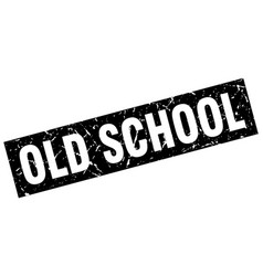 square grunge black old school stamp vector image