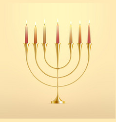stock hanukkah menorah with vector image